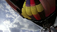 Lighting the torch on hot air ballon - stock footage