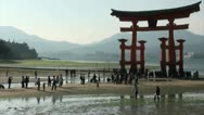 Stock Video Footage of Japan, torii gates, time lapse, beach, tourism, religion, people, rush