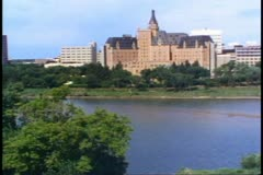 The Bessborough Hotel, Saskatoon, Saskatchewan, Canada, exterior Stock Footage