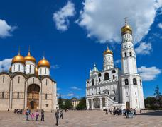 ivan the great bell tower at moscow kremlin - stock photo