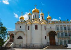 Cathedral of the annunciation at kremlin in moscow Stock Photos