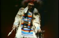 Indian mannequin dressed in costume, Saskatchewan, Canada Stock Footage
