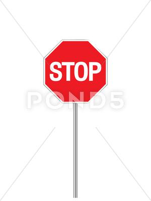 Stock Illustration of sign stop