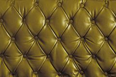 Stock Photo of gold genuine leather