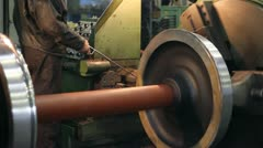 Worker in metalwork industry - stock footage
