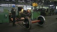 Stock Video Footage of Worker in metal processing industry