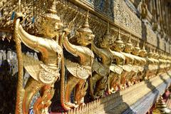 Statue on emerald temple in bangkok Stock Photos