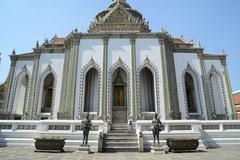 Acient architecture in emerald temple Stock Photos