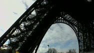 Stock Video Footage of Eiffel Tower Military Patrol