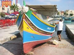 Traditional fishing boat in Malta Stock Photos