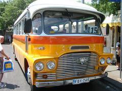 Bus in Valetta, Malta Stock Photos
