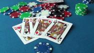 Stock Video Footage of Poker chips and cards