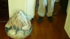 Donation bag clothing Stock Footage