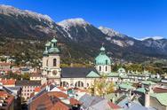 Innsbruck, view over city, tyrol Stock Photos