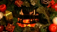 Christmas Fireplace Stock Footage
