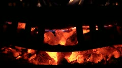 Fireplace Leaping Flames Stock Footage