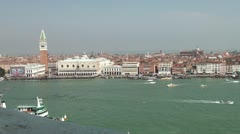 View on Saint Mark's square in Venice Stock Footage