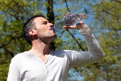 Stock Photo of drinking water in a park
