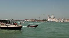 View on Dorsoduro, Venice Stock Footage