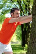 Stock Photo of man doing sport
