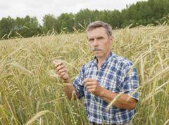 The farmer in the field Stock Photos