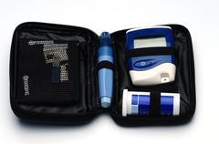 glucose test kit - stock photo