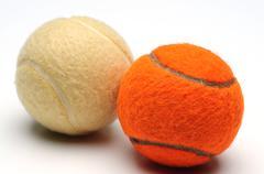Two tennis ball Stock Photos