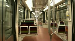 Riding Empty Subway Stock Footage