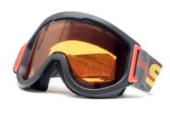 Ski Goggles Isolated on a White Background Stock Photos