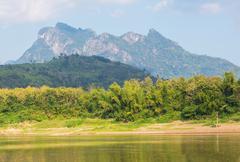 river in laos - stock photo