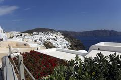oia city - stock photo