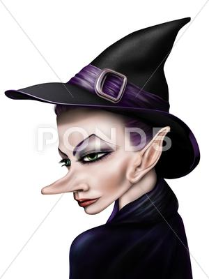 Stock Illustration of Stylized witch