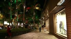 Kalakaua Avenue Honolulu Hawaii Stock Footage