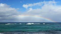 Hawaii Northshore Rainbow - stock footage