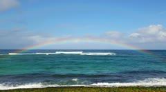 Northshore Hawaii Rainbow - stock footage