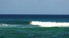 Surfing Northshore Hawaii - stock footage