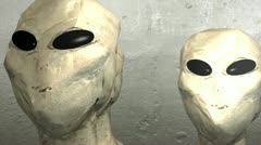 Grey aliens abduction2 Stock Footage