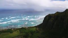 Aerial Shot Hawaii - stock footage