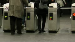 Paris Metro Ticket Confusion - stock footage