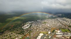Aerial Shot over the rainbow Stock Footage