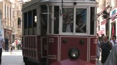 Trolley taksim istanbul Stock Footage