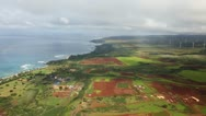 Stock Video Footage of Aerial Shot Hawaii
