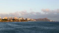 Waikiki Beach Dusk Stock Footage