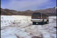 Jasper National Park, Alberta, Canada, Snow Coach on glacier approach Stock Footage