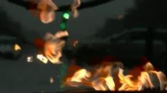 Paris Fiery Night Kaupunkikuva Arkistovideo