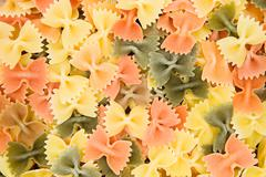 Colorful Farfalle - stock photo