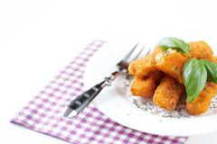 fried fish sticks - stock photo
