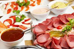 organic buffet - stock photo