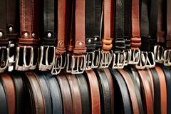belt bazar - stock photo