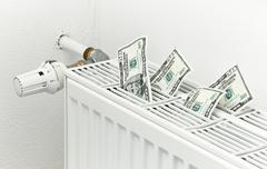 energy heating costs - stock photo